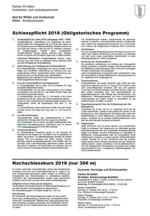 Schiesspflicht 2018 (Obligatorisches Programm)