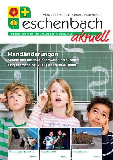 «Eschenbach aktuell», Ausgabe Nr. 10/2018