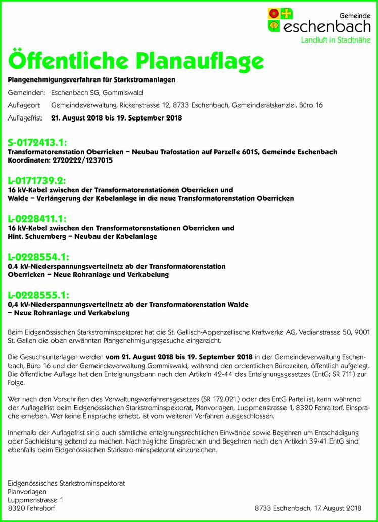 Plangenehmigungsverfahren für Starkstromanlagen