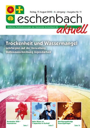 «Eschenbach aktuell», Ausgabe Nr. 11/2018