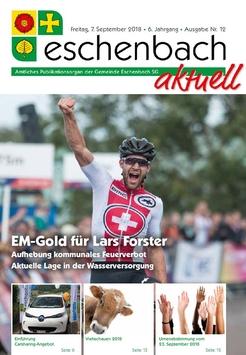 «Eschenbach aktuell», Ausgabe Nr. 12/2018