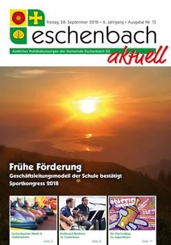 «Eschenbach aktuell», Ausgabe Nr. 13/2018
