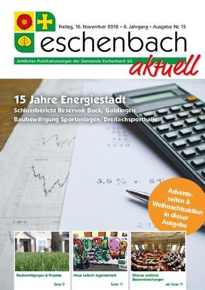 «Eschenbach aktuell», Ausgabe Nr. 15/2018