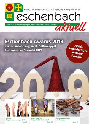 «Eschenbach aktuell», Ausgabe Nr. 16/2018