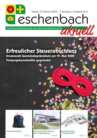 «Eschenbach aktuell», Ausgabe Nr. 2/2019