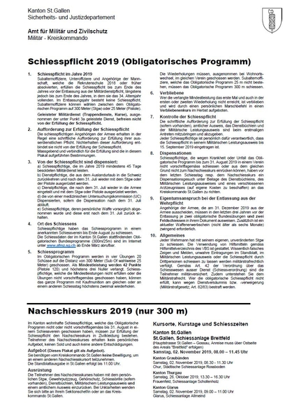 Schiesspflicht 2019 (Obligatorisches Programm)