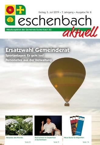 «Eschenbach aktuell» Ausgabe Nr. 8/2019