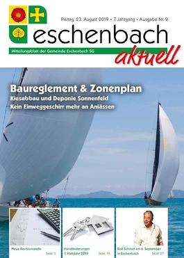 «Eschenbach aktuell» Ausgabe Nr. 9/2019