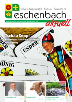 «Eschenbach aktuell» Ausgabe Nr. 10/2019