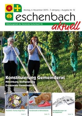 «Eschenbach aktuell» Ausgabe Nr. 12/2019