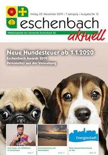 «Eschenbach aktuell» Ausgabe Nr. 13/2019