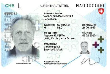 Umstellung Ausländerausweise AA19 EU/ EFTA