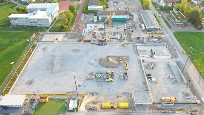 Drohnenaufnahme April 2020_Bau Sportanlagen