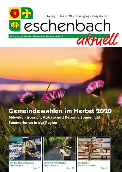 «Eschenbach aktuell» Ausgabe Nr. 08/2020