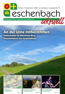 «Eschenbach aktuell» Ausgabe Nr. 10/2020