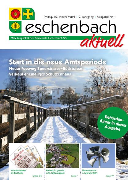 Ausgabe 01-21 «Eschenbach aktuell» (15.01.2021)