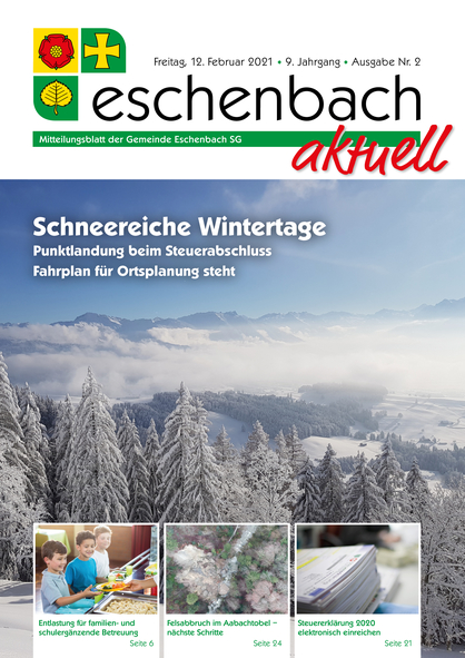 Ausgabe 02-21 «Eschenbach aktuell» (12.02.2021)