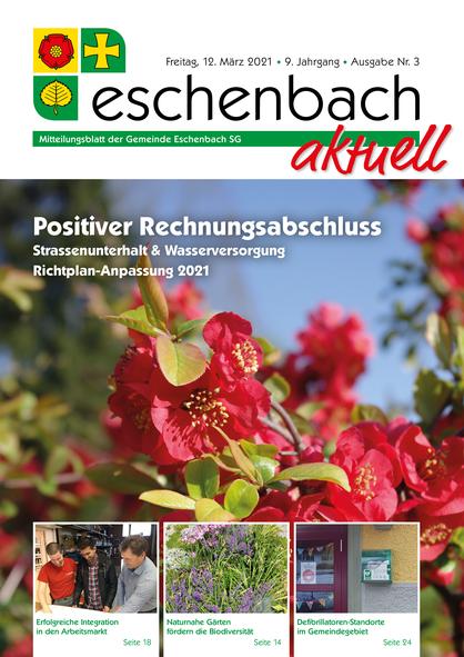 Ausgabe 03-21 «Eschenbach aktuell» (12.03.2021)