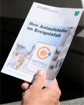 Broschüre Notfall-Treffpunkte